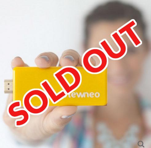 Leider zur Zeit ausverkauft: Der beliebteste Artikel unseres Online Shop, der viewneo Signage Stick, ist erst wieder in 2016 lieferbar.